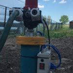Włącznik ciśnieniowy zakończenie studni